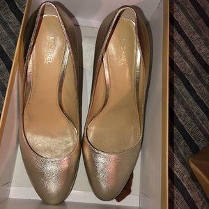 Gold MK heels